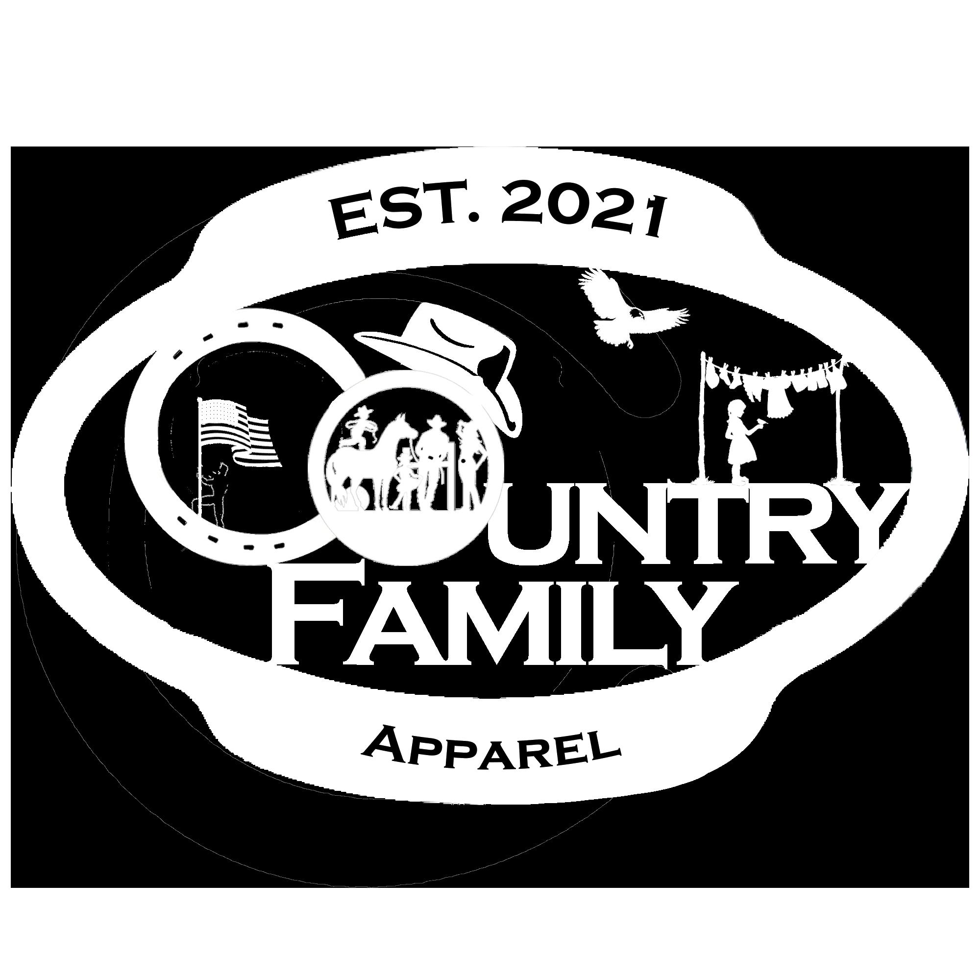 Country Family Apparel Logo - White